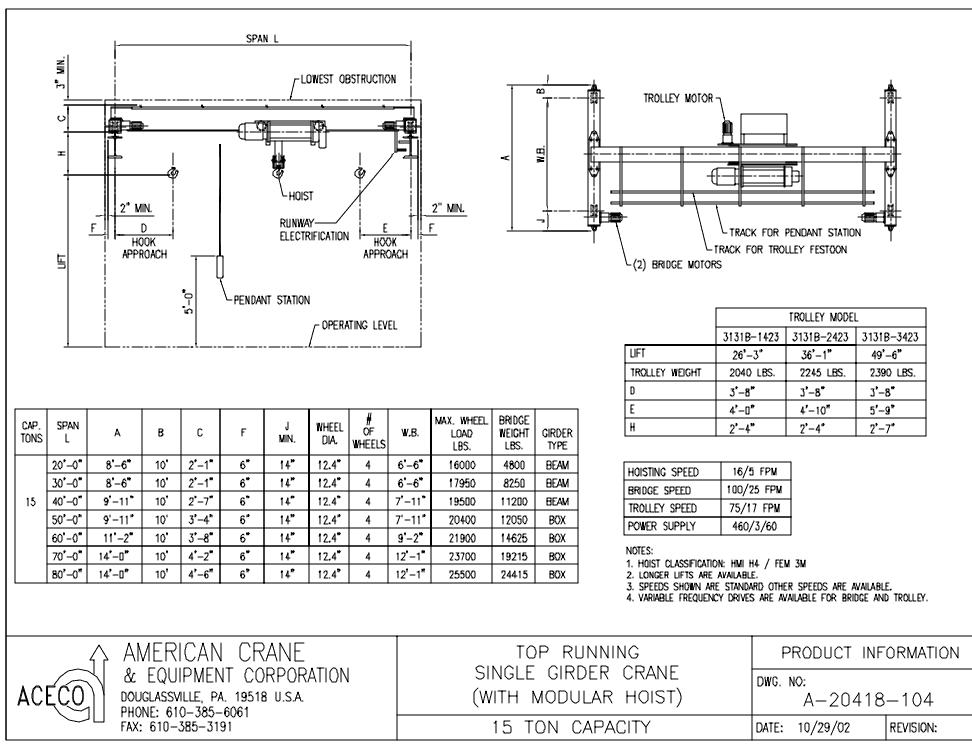 15 Ton Capacity (DWG)